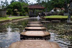 Water palace stepping stones (mutanthands) Tags: life leica travel bali house travelling water stone indonesia landscape 50mm asia outdoor royal palace m story stepping chill summilux indonesian nusa ubud dua m9 nyepi 21mm tirtagangga
