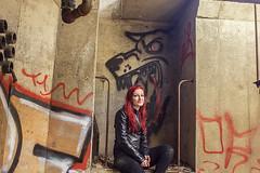 Little Red (revorgogram) Tags: selfportrait abandoned grafitti urbandecay abandonedbuilding urbex abandonedohio abandonedcolumbus