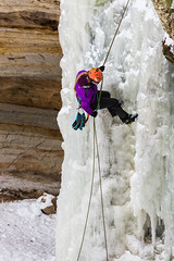 Ice Climber Rappelling down Frozen Waterfall in Pictured Rocks National Lakeshore (Lee Rentz) Tags: winter cliff woman usa snow ice water face sport female america season climb frozen waterfall midwest unitedstates snowy michigan freezing rope climbing northamerica recreation ropes climber icy activity nationalparkservice upperpeninsula rappel lakesuperior rappelling waterice climbers crosscountryskiing sandpoint skitrail picturedrocks midwestern picturedrocksnationallakeshore munisingskitrail