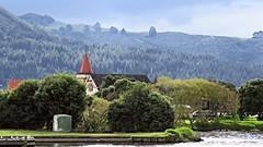 Rotorua: Church seen from Rotorua Lakefront (JayVeeAre (JvR)) Tags: trees lake church landscape rotorua hillside mamaku picasa3 johnvanrooygmailcom johnvanrooy gimp28 canonpowershotsx60hs johannesvanrooy httpwwwflickrcomphotosjayveeare httpwwwpanoramiocomuser1363680 httppicasawebgooglecomjohnvanrooy 2016johannesvanrooy