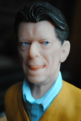- (Are Out Tonight) - (PinstripedPenguin) Tags: sculpture traditional sculpey valentinesday davidbowie blackstar lazarus thenextday  supersculpey