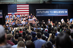 Bernie Sanders with supporters (Gage Skidmore) Tags: arizona phoenix fairgrounds vermont state senator president bernie campaign primary sanders 2016