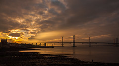 Forth Road bridges (SamRoss1) Tags: bridge sunset forth newbridge