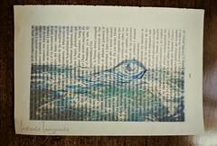 La mirada se pierde, el mar te enseña a ver con el alma (• Instante Imaginante •) Tags: wood blue sea abstract art hoja table mar madera fineart lapiz draw dibujo mirada ilustration mesa ilustracion celeste perdida vintagepaper abtracto