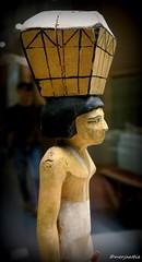 Statuette of Offering bearer (Merja Attia) Tags: barcelona wooden spain ancient louvre exhibition sycamore egyptian statuette ancientegypt egyptology egyptianart caixaforum gravegoods middlekingdom asyut offeringbearer animalsandpharaohs