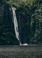 Waterfall versus ship (Sean Lowcay (sealow08)) Tags: newzealand nature water forest landscape waterfall nikon scenery rocks natural outdoor rocky nz southisland d90 nikond90