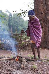 Old woman (wietsej) Tags: old morning woman india zeiss fire sony 2470 chhattisgarh a900 kiwali bastar sal2470z