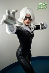 IMG_8735 (Neil Keogh Photography) Tags: white black female blackcat comics mask boots cosplay gloves wig cosplayer collar marvel zip marvelcomics jumpsuit manchesteranimegamingcon2016