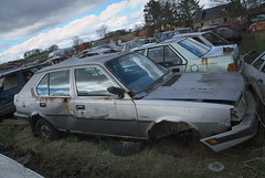 DSC_9810 (srblythe) Tags: uk classic cars ford abandoned graveyard car austin volkswagen scotland volvo rust fiat decay north rusty british scrapyard hyundai leyland vauxhall volvograveyard