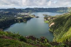 The Lake (Steve Vallis) Tags: blue lake green portugal caldera volcanic azores