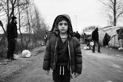Life In Migrant Jungle (maxbryan92) Tags: uk white black france silver children living photo nikon child refugees documentary jungle nik ilford crisis journalism calais fra d3 conditions migrant 2016 efexs