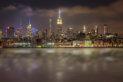 American Icon (ADW44) Tags: nyc longexposure nightphotography newyork reflection skyline architecture newjersey jerseycity skyscrapers manhattan esb empirestatebuilding nycskyline libertystatepark