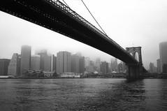 Brooklyn Bridge 1995 (fredMin) Tags: travel white black monochrome scan hudson