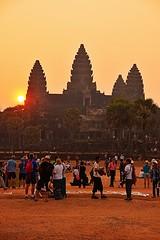 Sunrise at Angkor Wat, Cambodia (Maria Kotsonia) Tags: red orange sunrise temple nikon asia cambodia ngc angkorwat siemreap d3300