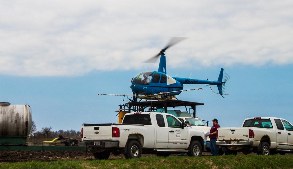 Technology plane landing on pickup truck video.