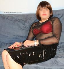 0316-new-clothes-36 (Bede Cede) Tags: stockings tv cd transvestite heels corset crossdresser crossdress pvc strappy sheer