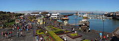 San Francisco - Pier 39 (Explored 21 apr 2016, #235) (Drriss & Marrionn) Tags: sanfrancisco california city travel sky people panorama usa water ferry marina coast cityscape waterfront harbour outdoor crowd bluesky fishermanswharf alcatraz pier39