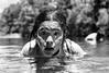 Sumergida en la frontera (GMH) Tags: bw río swimming river mujer agua retrato nb bn niña gotas nadar nadando natación mapuche sumergida pehuenche ltytr1 bañándose