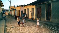 Once Upon a Time in Cuba   Travel Video (ARTtouchesART) Tags: poverty street playing latinamerica america ball photography football district soccer cuba neighborhood american trinidad caribbean cuban neighbourhood filmphotography sanctispritus