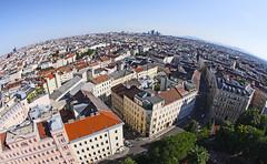 The World Is Round (C_MC_FL) Tags: vienna wien city sky urban building architecture canon photography eos austria sterreich cityscape fotografie view horizon himmel sigma wideangle fisheye stadt architektur aussicht gebude horizont 10mm weitwinkel stdtisch fischauge weitsicht stadtlandschaft 60d
