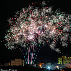 Fireworks (BryzePhoto) Tags: life longexposure sky italy art love colors beautiful night lights amazing colorful fireworks sicily luci moment lovely emotions colori notte colorexplosion fuochidartificio blacksky lungaesposizione campobellodimazara giochipirotecnici