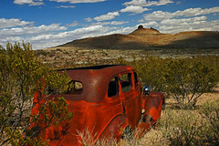 A Rusted Monument (jwoodphoto) Tags: newmexico abandoned landscape rust automobile decay ghosttown lakevalley jwoodphoto