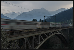 "Farewell, Angerschlucht Bridge ("" Wiener Schule "") Tags: bridge train austria freight bb gterzug obb intermodal oebb tauern tauernbahn tauernrailway angerschlucht angerschluchtbrcke tauernline"