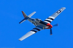 P-51D Mustang-1 (Mr. Low Notes) Tags: sky canon airplane flying fighter aircraft wwii airshow piston merlin ww2 mustang prop stunts p51d 70d