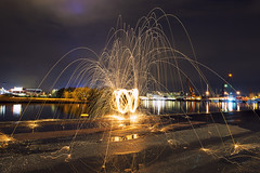 Steel Wool first try (Rixoon) Tags: wool night gteborg photography nikon long exposure steel gothenburg r d610 erixon