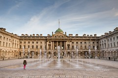 Somerset House (TimeTraveller37) Tags: city uk greatbritain light people building london water girl beautiful architecture canon reflections photography shadows photos unitedkingdom great naturallight tourists symmetry explore event somersethouse fountains timeout embankment thebest exciting londoncity hover londonist londontown visitlondon londonicons explorelondon inexplore timeoutlondon secretlondon canon7d sunmy hoveringgirl