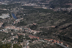 Seen from Montserrat Mountain (Ming_Young) Tags: barcelona travel landscape aerialview catalonia montserrat  montserratmountain monestirdemontserrat