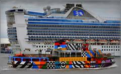Caribbean Princess (Departing  Departing Liverpool) 1st May 2016 (Cassini2008) Tags: portofliverpool caribbeanprincesscruiseship merseyferrysnowdrop