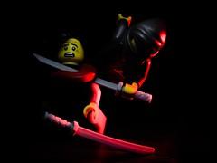 Death from the shadows (grzegorz.s) Tags: toy kill lego ninja olympus 45mm assasin