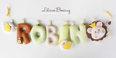 (Liliane Boesing) Tags: guirlanda feltro leão enfeite girlande safári