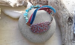 20160120_150009 (katerina66) Tags: handmade turquoise jewellery polymerclay bracelet polymer    velvetcord