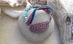 20160120_150009 (katerina66) Tags: handmade turquoise jewellery polymerclay bracelet polymer κοσμήματα χειροποίητο βραχιολι velvetcord πολυμερικόσάργιλοσ