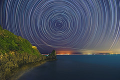 20150911  (Daniel Chang) Tags: trees sky mountains nature night landscape shower star nikon nightscape space north trails astrophotography cape shooting astronomy okinawa peaks streaks collegiate startrails polaris manzamo circumpolar perseid perseids  d5500 12mm24mm