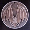 """'Bat' pendant carving in 1964 Silver Half $ • <a style=""""font-size:0.8em;"""" href=""""http://www.flickr.com/photos/72528309@N05/23950834023/"""" target=""""_blank"""">View on Flickr</a>"""