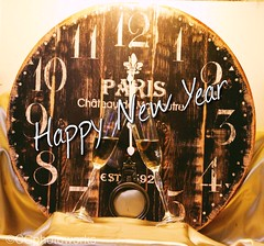 Happy New Year! (CCphotoworks) Tags: champagne midnight time clock celebrating holidays happynewyear ccphotoworks