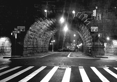 1.10.2016: Harlem Nights (Kgriffith45) Tags: street nyc newyork night cityscape harlem citylife tunnel