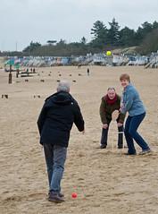 cricket339 (peterhala) Tags: uk wellsnextthesea 2016 january beach cricket norfolk
