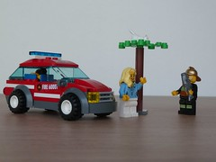 LEGO 60001 LEGO CITY Fire Chief Car (Totobricks) Tags: city car fire lego chief review howto instructions build firechiefcar 60001 totobricks lego60001