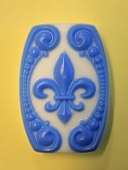Fleur de lis Bar $4.00 (Clelian Heights) Tags: fleurdelis soaps unscented decorativesoaps cleliansoaps