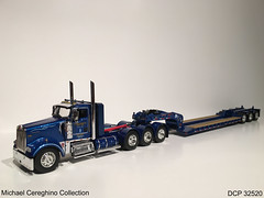 Diecast replica of Western Distributing Kenworth W900 with lowboy, DCP 32520 (Michael Cereghino (Avsfan118)) Tags: scale truck model die semi corporation replica cast western 164 trans corp distribution promotions trasnportation kenworth diecast dcp lowboy w900 daycab wdtc w900l