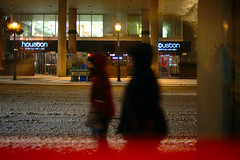 walk (Ian Muttoo) Tags: street snow toronto ontario canada reflection reflections gimp houston motionblur yongestreet yongest ufraw shiftn houstonavenuebargrill dsc52741editshiftn