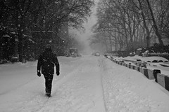 A Long, Snowy Walk (maisa_nyc) Tags: nyc winter snow newyork storm manhattan houstonstreet
