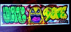 graffiti sticker collab (Wizards_Stickers) Tags: street art graffiti sticker character paste can spray usps slaps collabs cholowiz nazer26