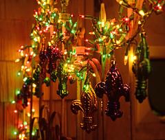 Lights & Fleurs (BKHagar *Kim*) Tags: green gold lights iron purple decoration rail porch fleurdelis mardigras bkhagar