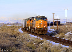 UP 9572 @ Argenta, NV (Michael Polk) Tags: railroad up train pacific nevada union central southern freight transcontinental argenta 9572