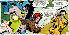 Bat Spank (Tom Simpson) Tags: woman ass illustration vintage comics legs bdsm 1966 redhead comicbook batman comicbooks 1960s spanking spank bobhaney winmortimer